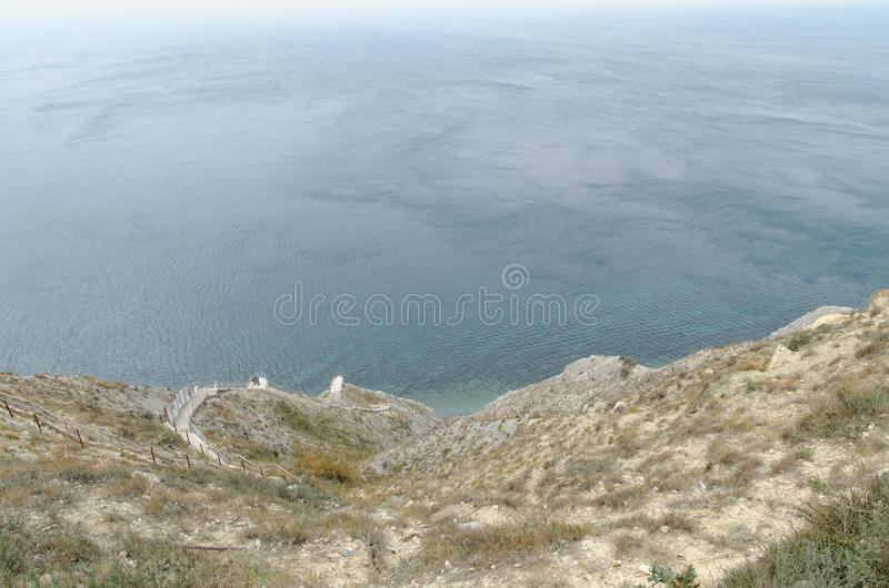 Landschaft in Anapa stockfoto
