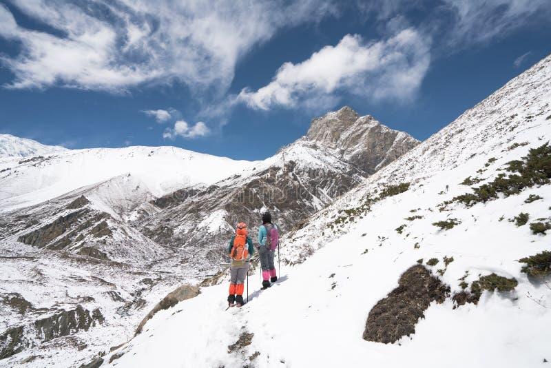 Landschaft in Annapurna-Stromkreis lizenzfreie stockfotografie