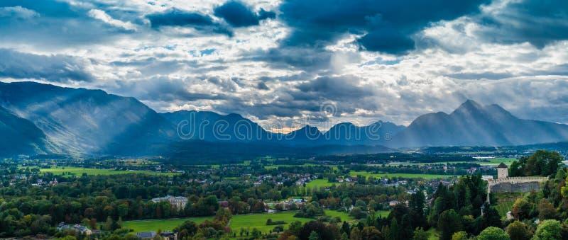 Landschaft auf Salzburg stockbild