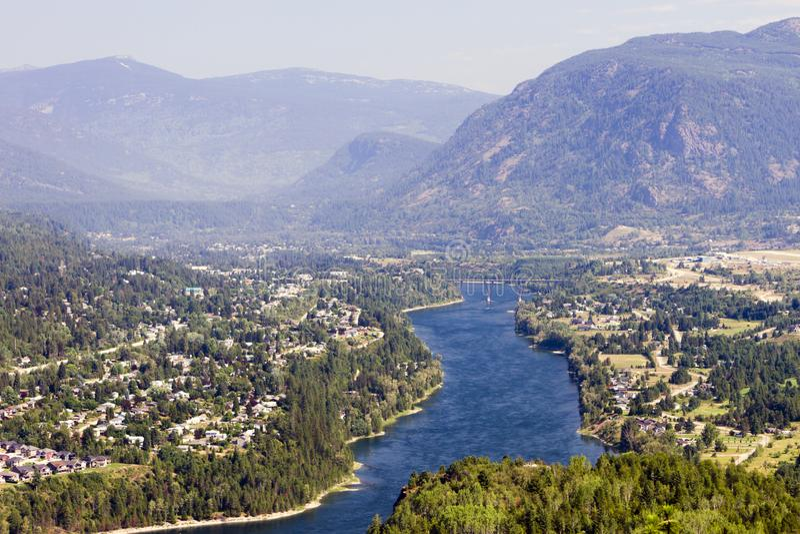 Landschaft Castlegar Columbia River stockfotografie