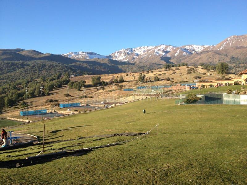 Landschaft in Chile stockbilder