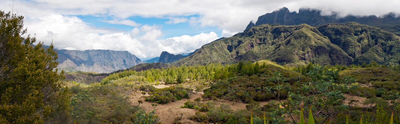 Landschaft Circquede Mafate lizenzfreies stockfoto