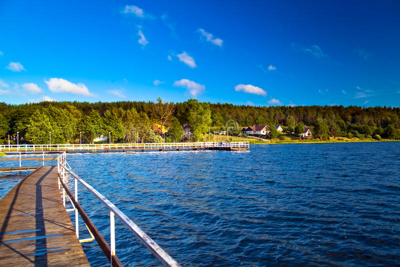Landschaft in dem See stockfoto