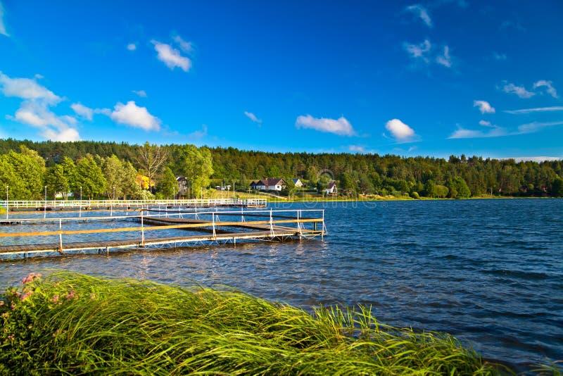 Landschaft in dem See stockfotografie