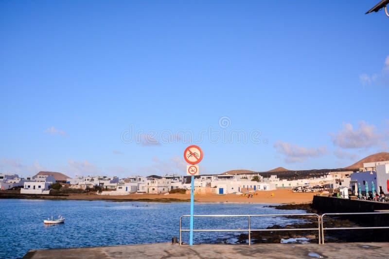 Landschaft in den tropischen vulkanischen Kanarischen Inseln Spanien stockfoto