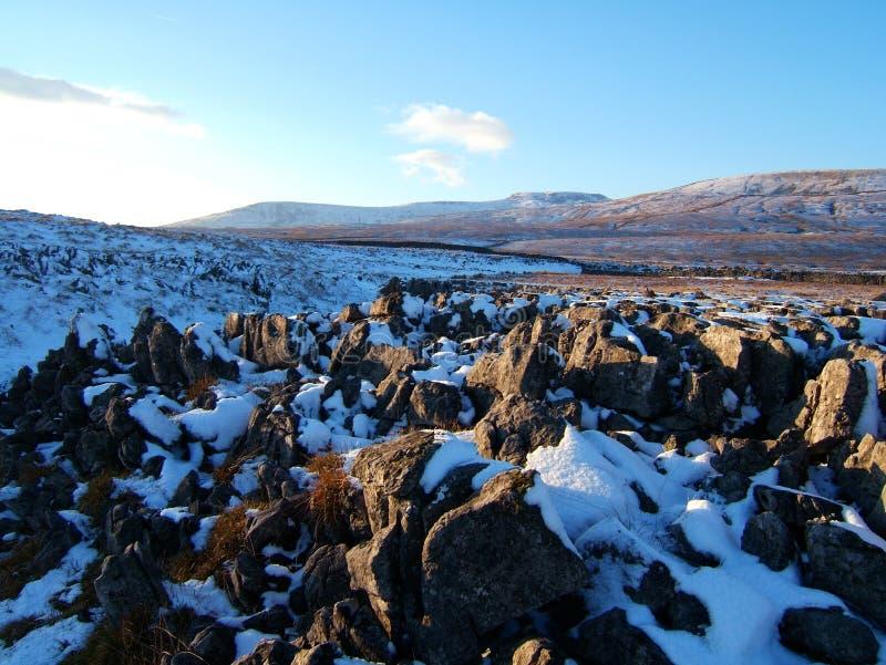 Landschaft in den Yorkshire-Tälern lizenzfreie stockfotos