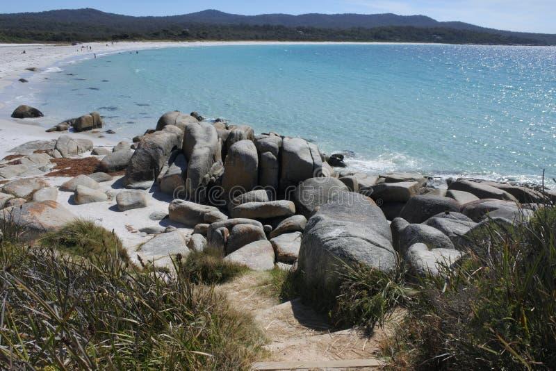 Landschaft der Bucht der Feuer Tasmanien Australien stockfoto