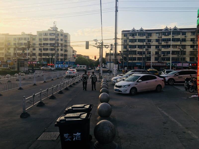 Landschaft der fangtai Stadtstraße, Jiading-Bezirk, Shanghai lizenzfreie stockfotografie