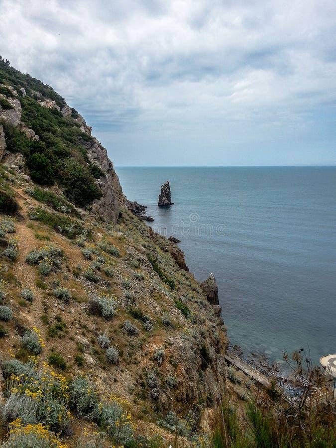 Landschaft der Küste der Krim stockfoto