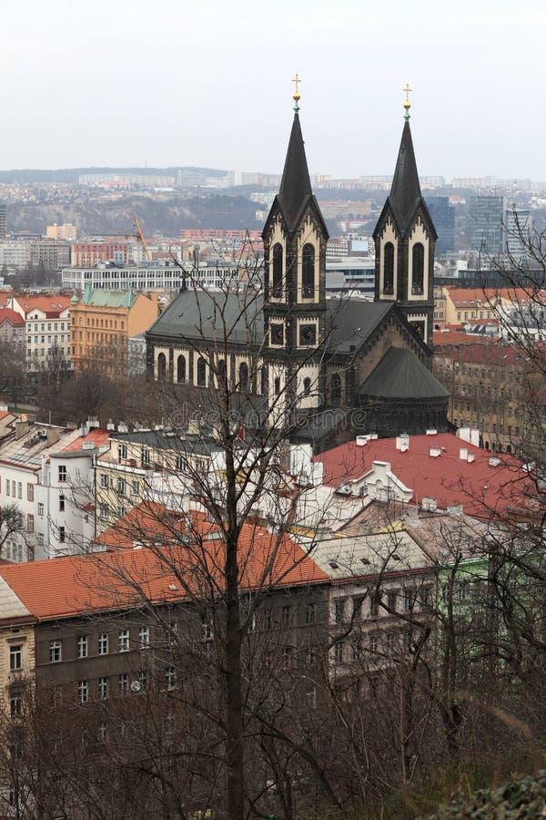 Landschaft der Kirche der Heiliger Cyril und Methodius lizenzfreie stockfotografie