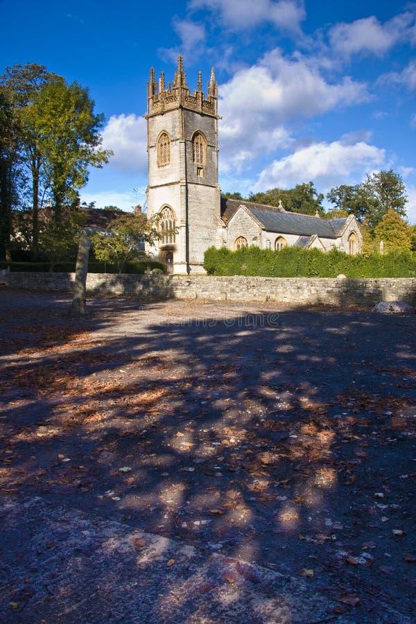 Landschaft der kleinen Kirche lizenzfreie stockfotos