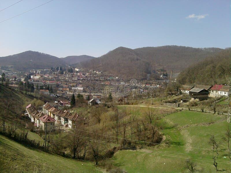 Landschaft der kleinen Stadt stockfotografie