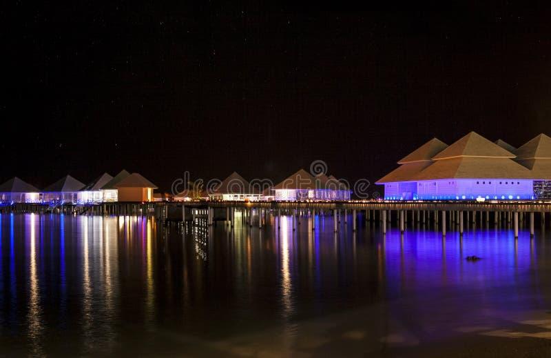Landschaft in der Nacht stockfoto