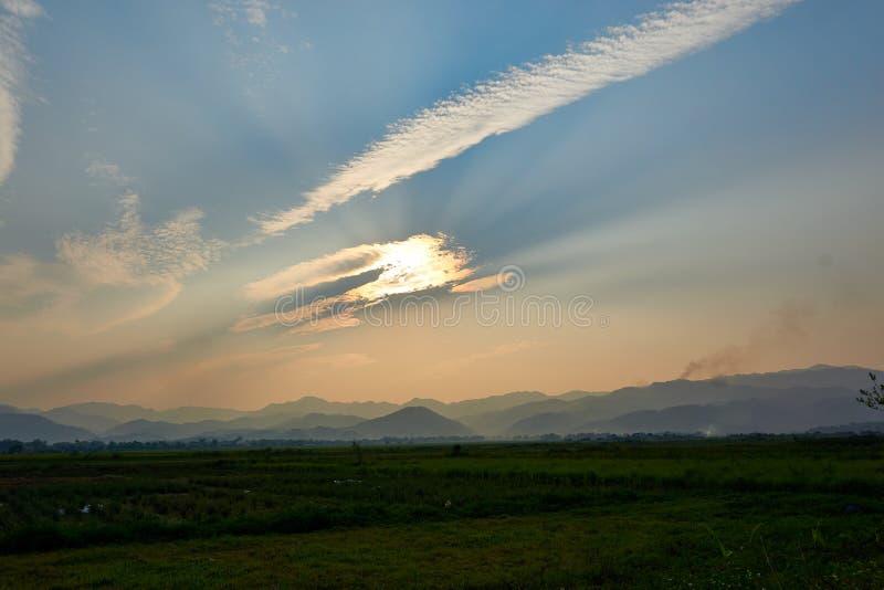 Landschaft der Natur in Dien Bien Phu North Vietnam stockbilder