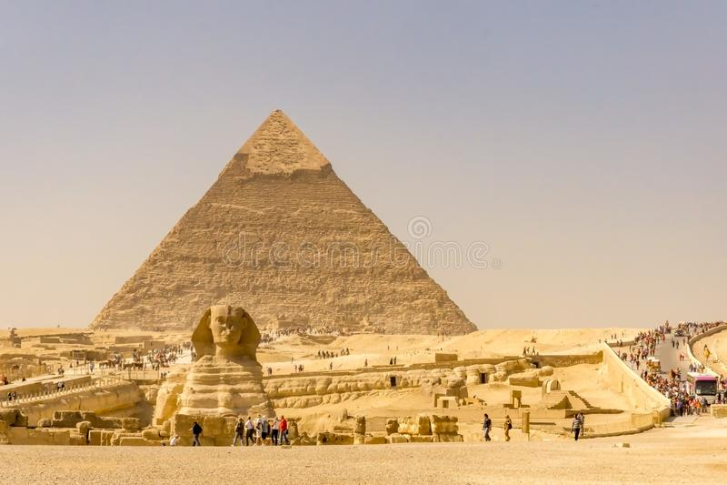 Landschaft der Pyramiden in Giseh, Ägypten lizenzfreies stockbild