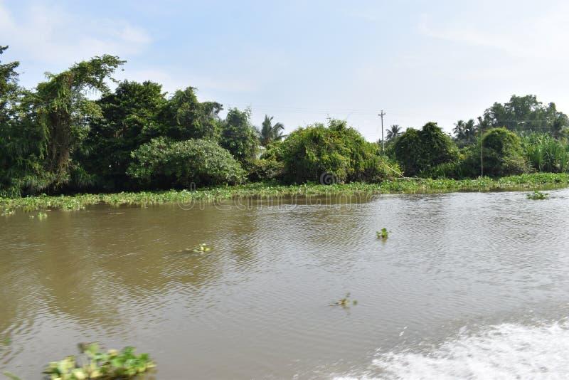 Landschaft der schönen Landschaft in Saigon-Fluss in Ho Chi Minh City, Vietnam, Asien stockbild