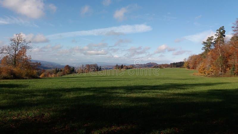 Landschaft in der Schweiz lizenzfreies stockbild