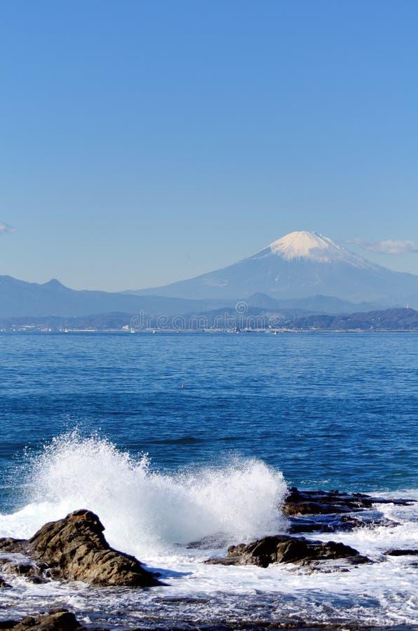 Landschaft des Enoshima Chigogafuti. stockfotografie