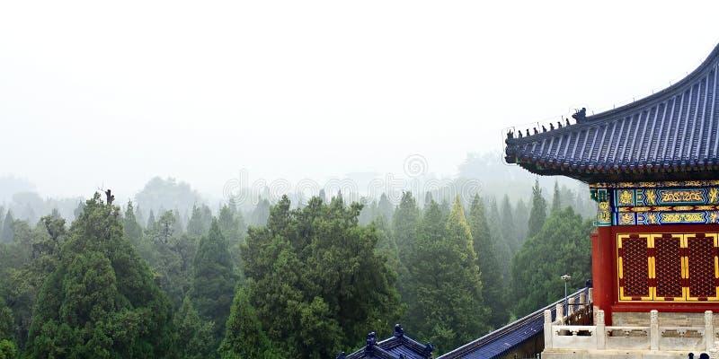 Landschaft des Himmelstempels lizenzfreie stockbilder