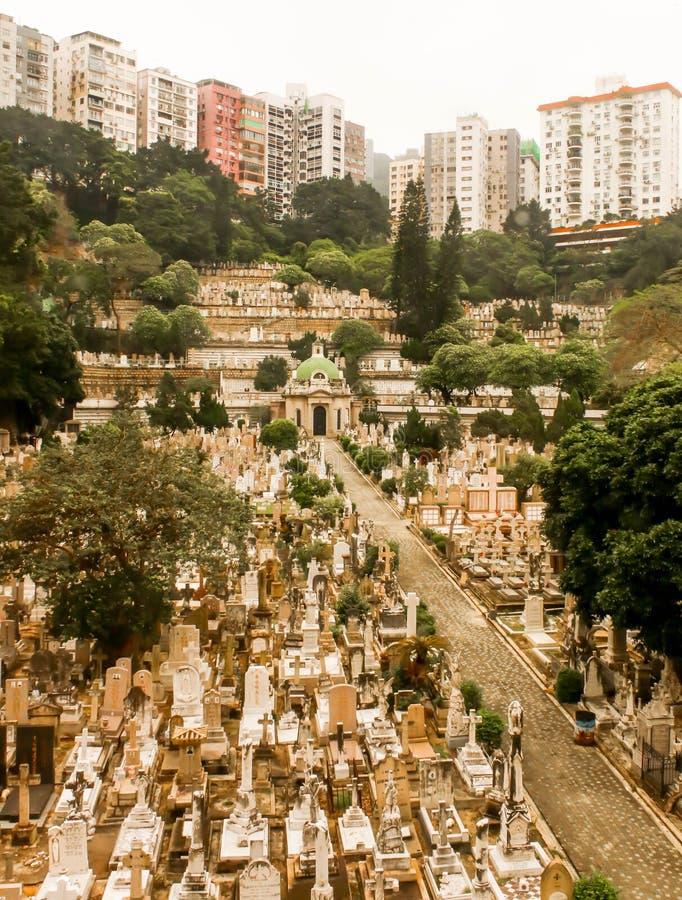 Landschaft des Kirchhofs in Hong Kong stockfoto