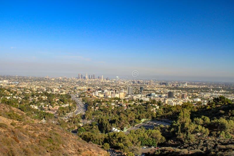 Landschaft des Los Angeles-Stadtbereichs stockbild