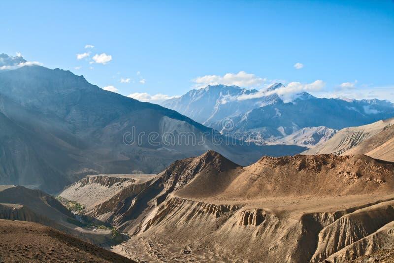 Landschaft des oberen Mustangs stockbilder