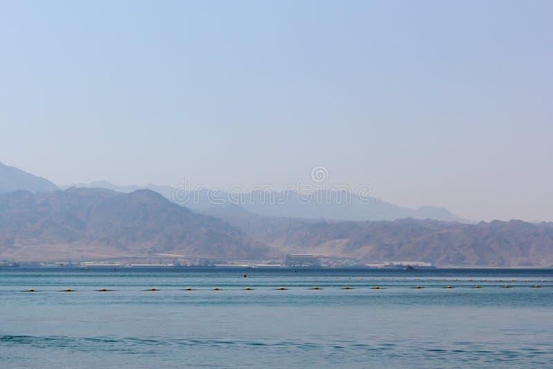 Landschaft des Roten Meers stockfotos