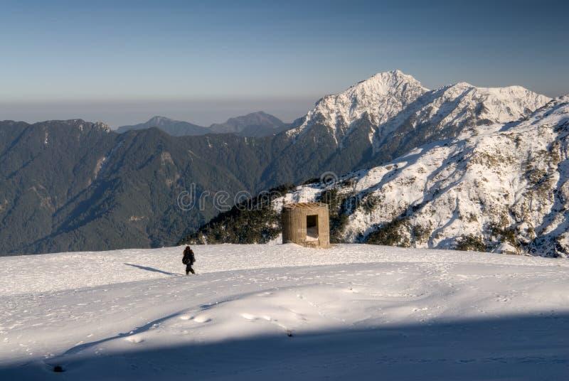 Landschaft des Schneeberges lizenzfreie stockbilder