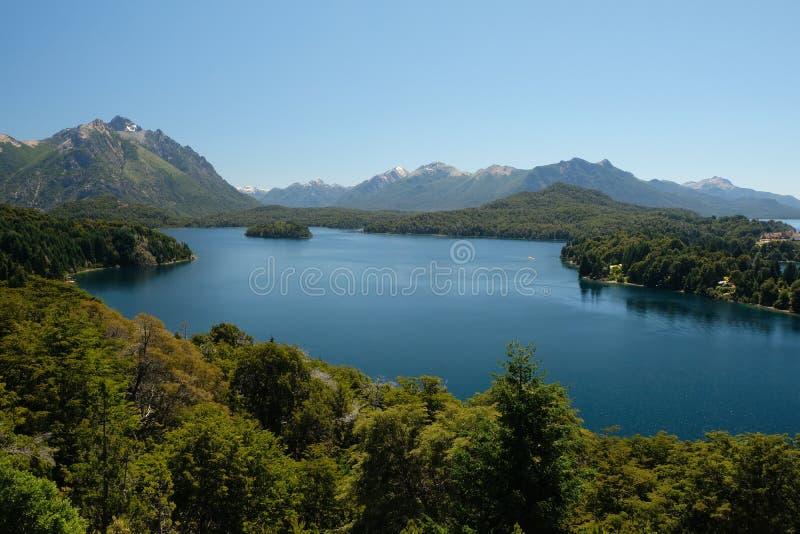 Landschaft des sieben See-Bezirkes, Patagonia, Argentinien stockbilder