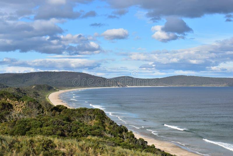 Landschaft des Strandes in Tasmanien, Australien lizenzfreies stockbild