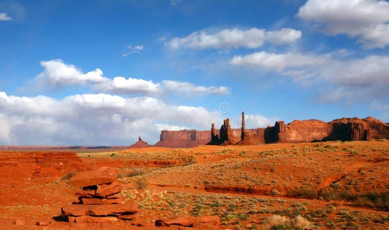 Landschaft des Wüsten-Bereiches des Denkmal-Tales US stockfotos