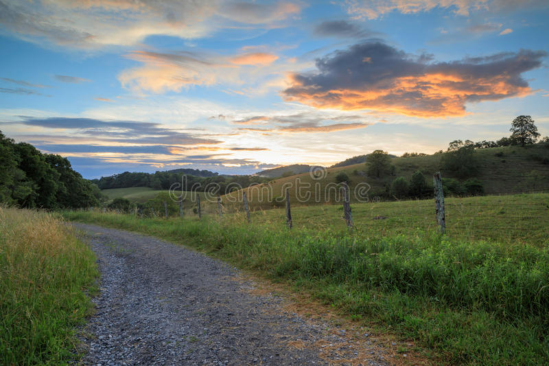 Landschaft entlang blauen Ridge Parkway North Carolina stockfoto
