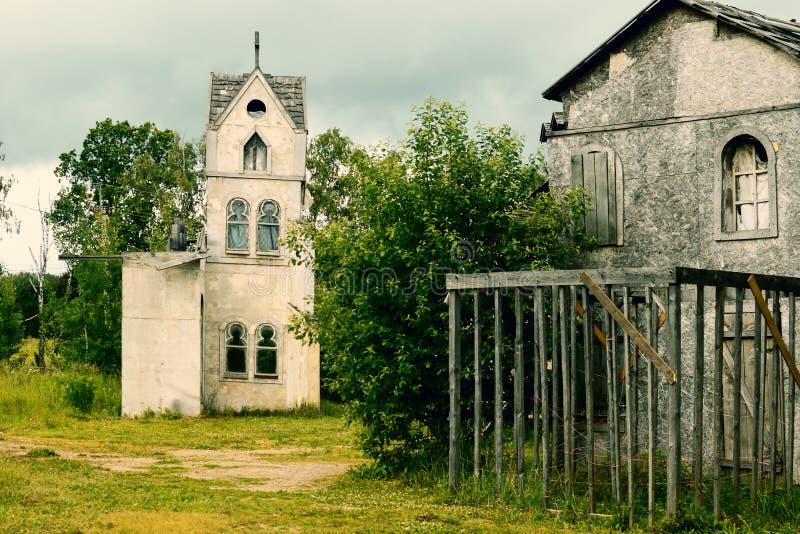 Landschaft für historische mittelalterliche Schmierfilmbildungen lizenzfreie stockfotos