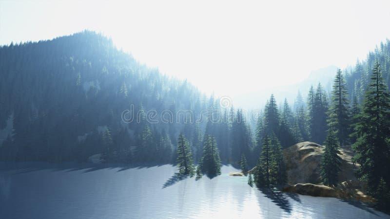 Landschaft 3d/painted lizenzfreie stockfotos