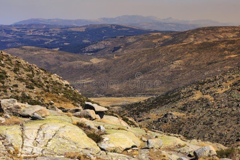 Landschaft in Gredos-Berg, Spanien stockbild