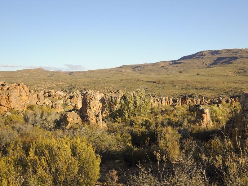 Landschaft im Cederberg-Naturreservat lizenzfreies stockbild