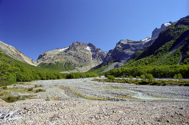 Landschaft im chilenischen Patagonia stockfotos