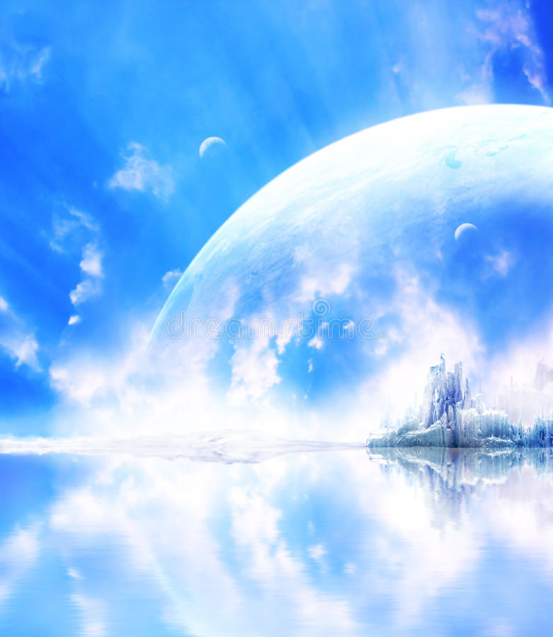 Landschaft im Fantasieplaneten vektor abbildung