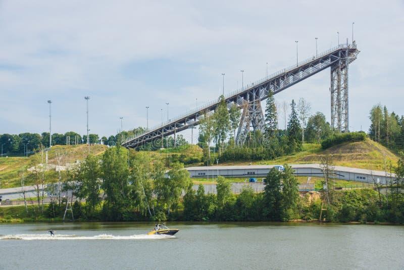 Landschaft in Kavgolovo stockfoto