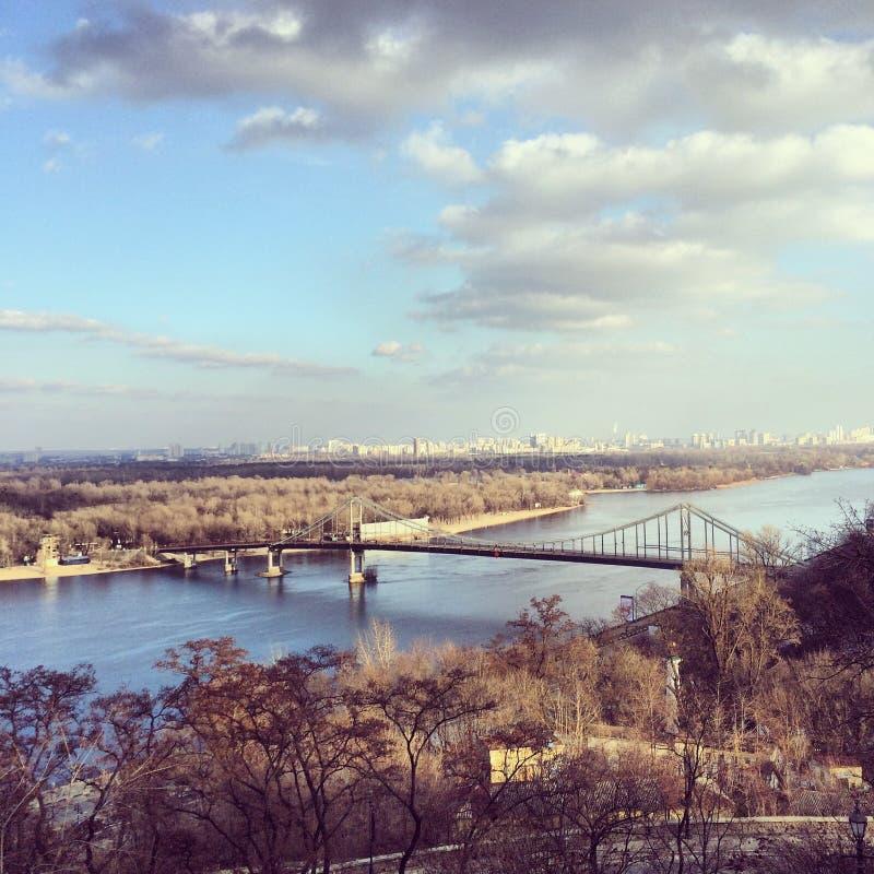 Landschaft in Kiew stockbilder