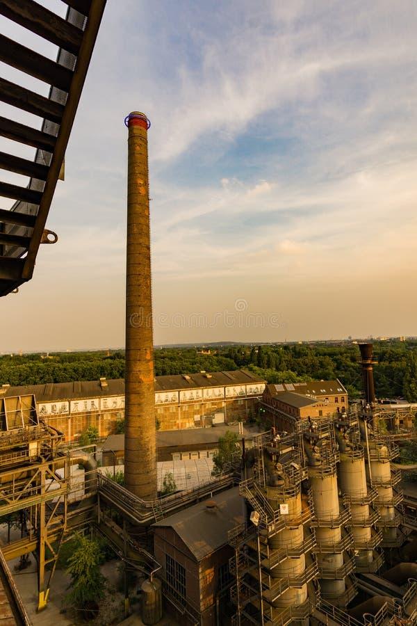 Landschaft Landschaftspark Duisburg stockfotografie