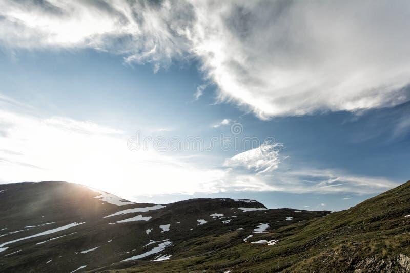 Landschaft in Lappland, Schweden lizenzfreie stockbilder