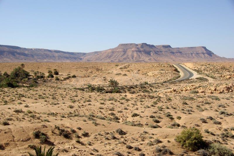 Landschaft in Libyen stockfotos