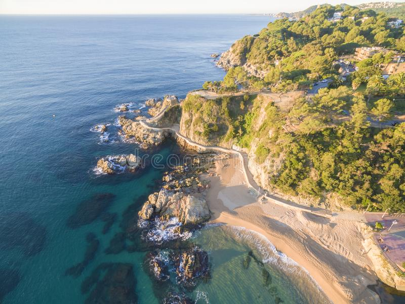 Landschaft Lloret de Mar, Spanien stockfotos