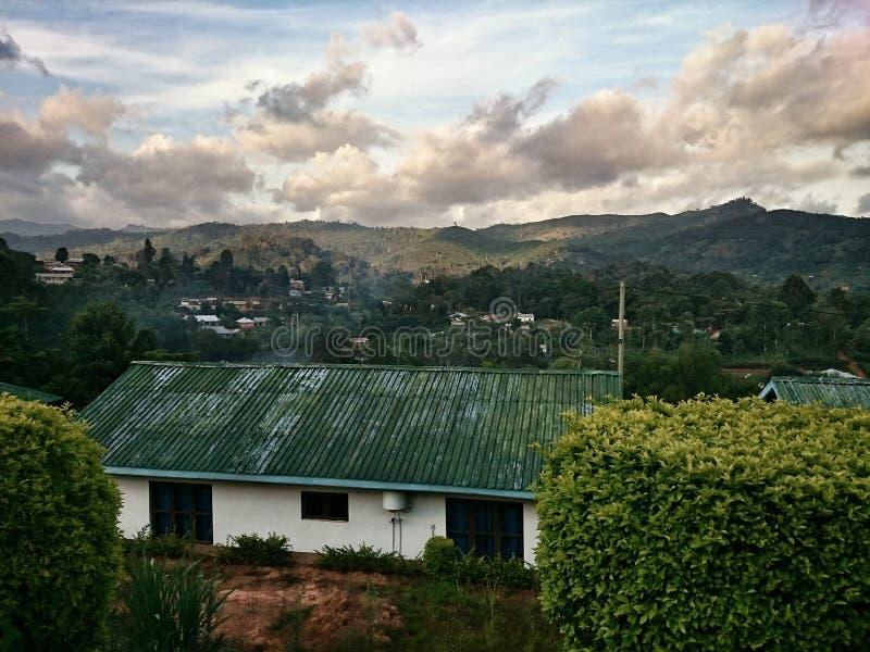 Landschaft in Lushoto Tansania stockfotos