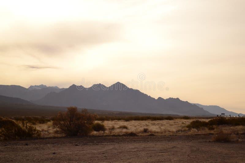 Landschaft in Mendoza, Anden-Gebirgszug stockfoto