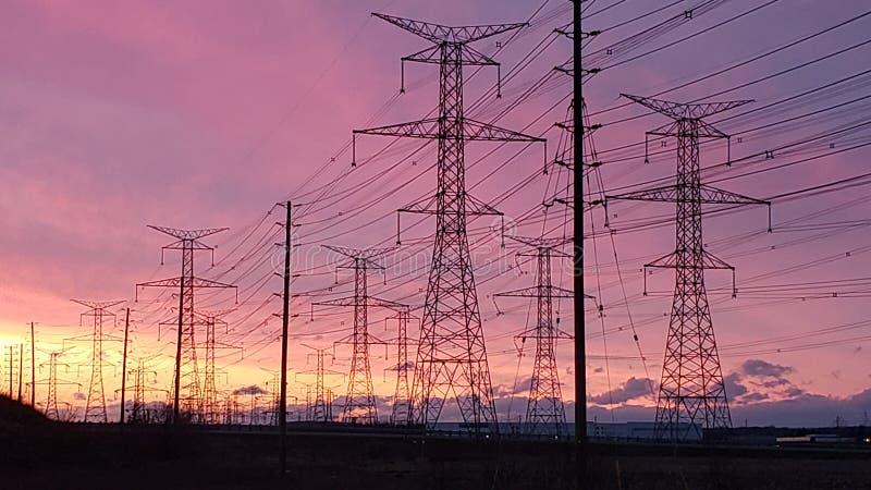 Landschaft in Milton, Kanada bei Sonnenuntergang lizenzfreies stockfoto