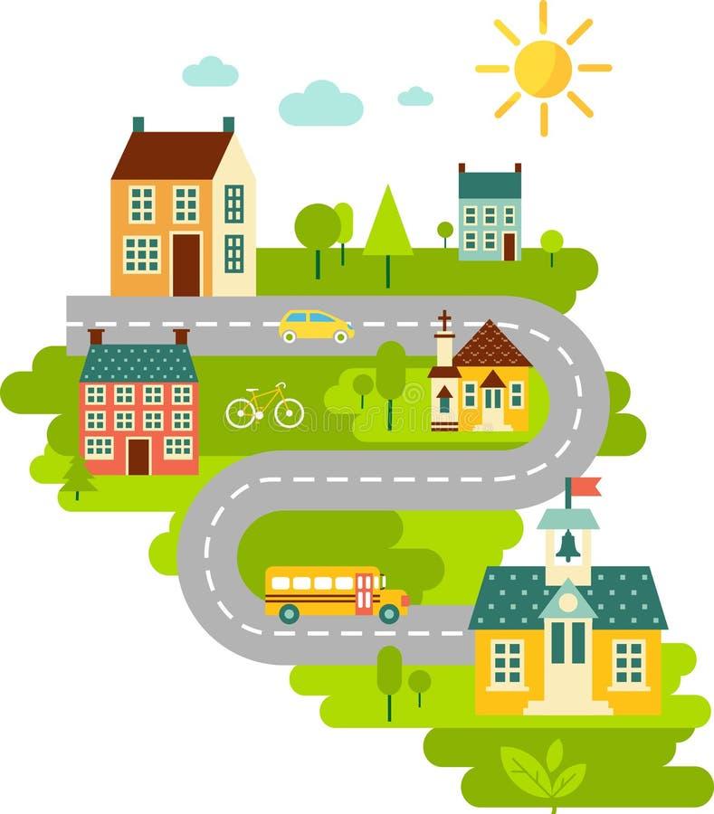 Landschaft mit Bildungskonzept vektor abbildung