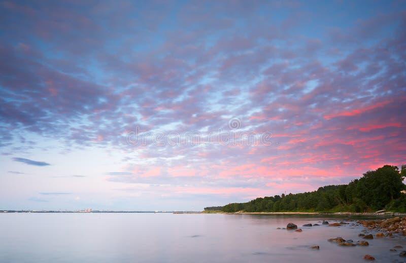 Landschaft mit Meer stockfoto