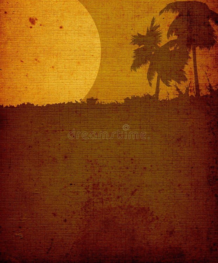 Landschaft mit Palmebäumen stock abbildung